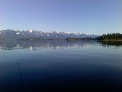 Calm morning on flathead lake howe 39 s fishing a able charters for Flathead lake montana fishing