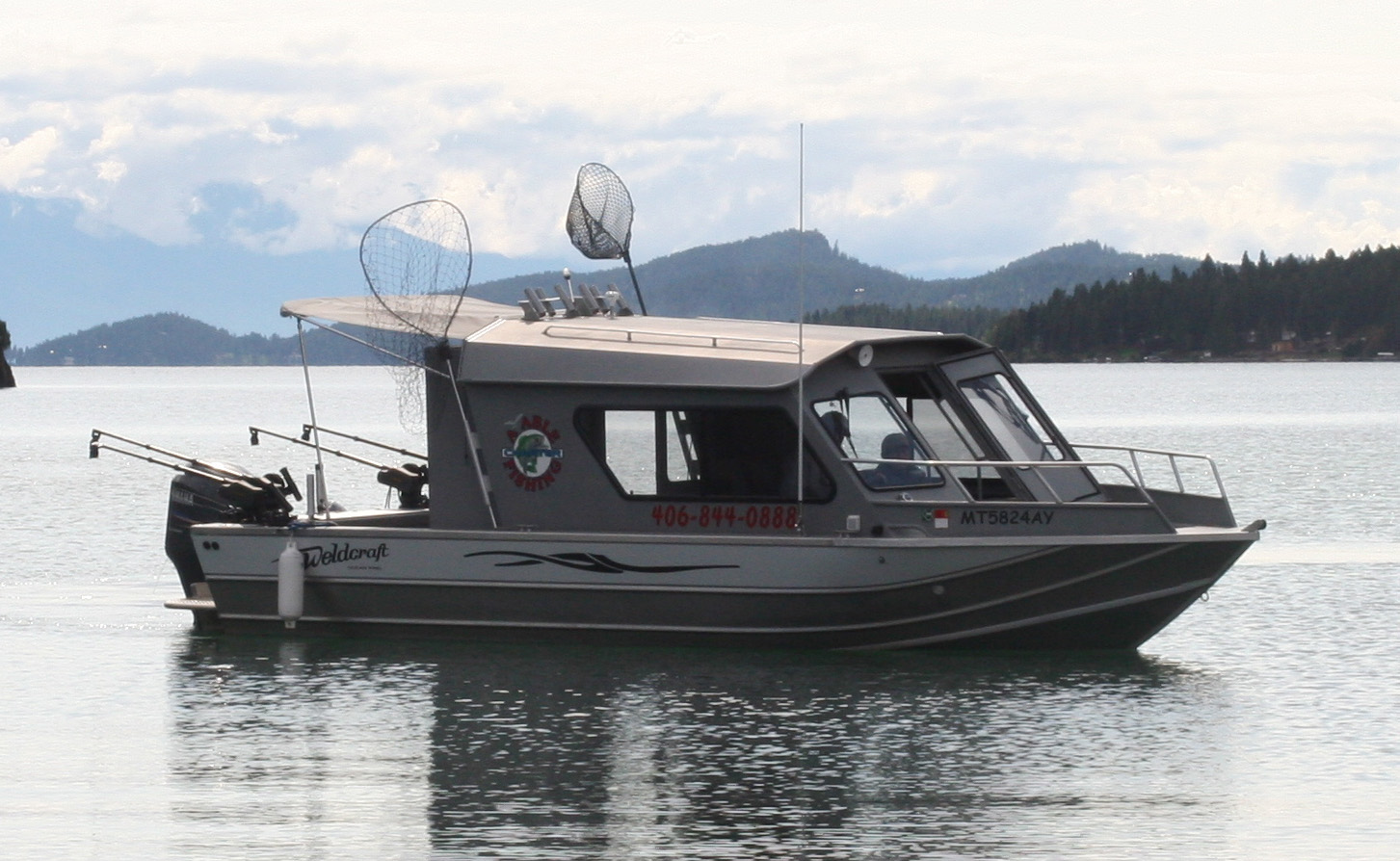 Flathead lake fishing charters and more for Lake fishing boats